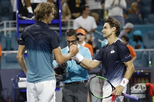 Tennis: Ferrer stuns Zverev, Federer fights back in Miami