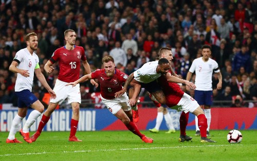 Soccer: Sterling bags hat-trick as England thrash Czechs