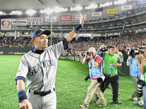 Baseball: Team mates weep as Ichiro, baseball's most prolific hitter, retires at 45