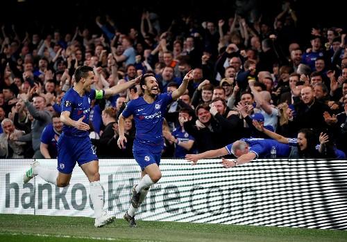 Soccer: Chelsea beat Slavia 4-3 to book Europa League semi