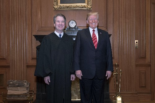 Trump attends Kavanaugh ceremony at Supreme Court