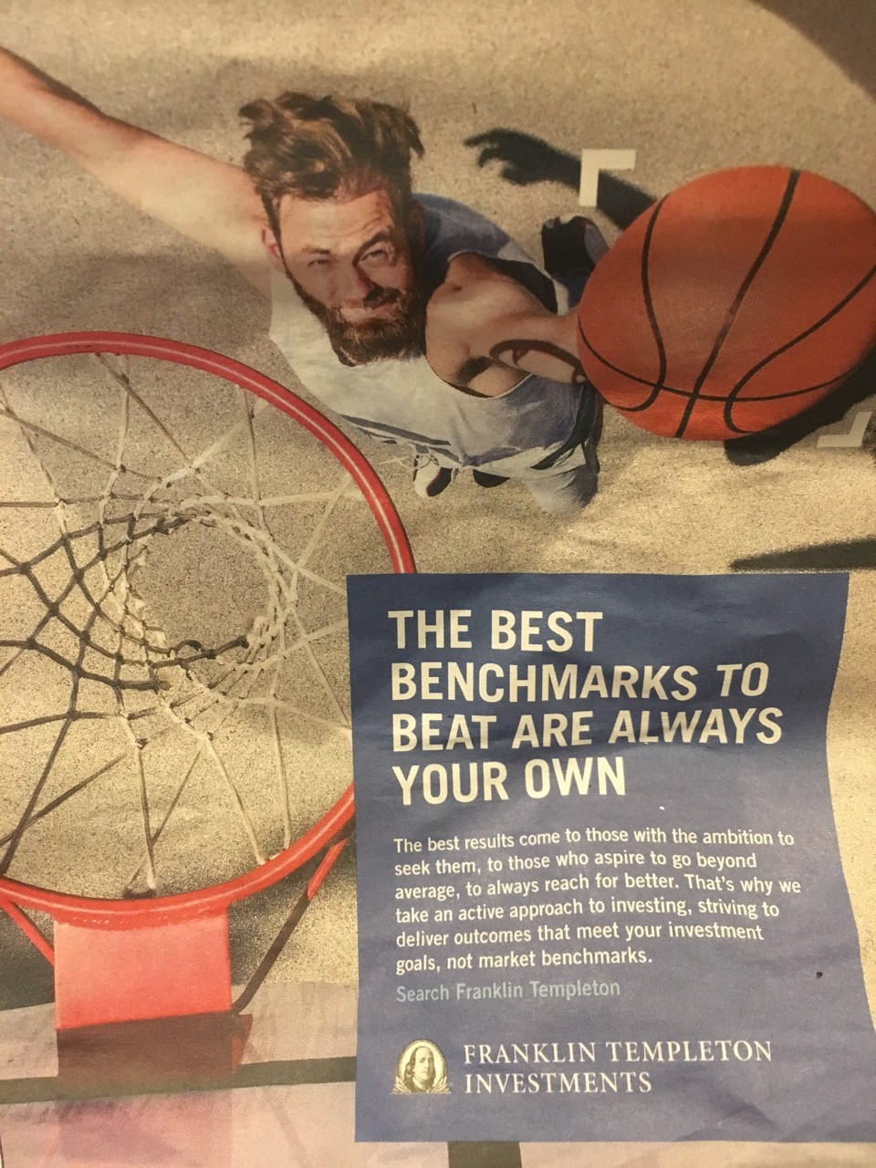 The best benchmarks to beat are always your own