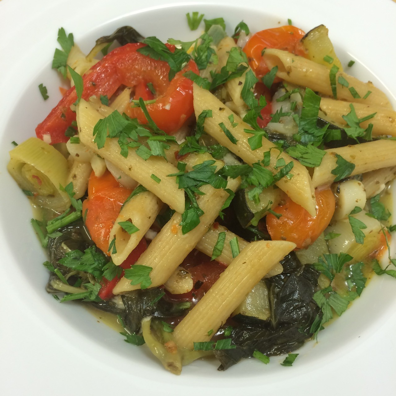 One Pot Vegetable Penne Pasta.
