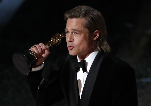 Brad Pitt wins supporting actor Oscar for 'Once upon a Time in Hollywood'