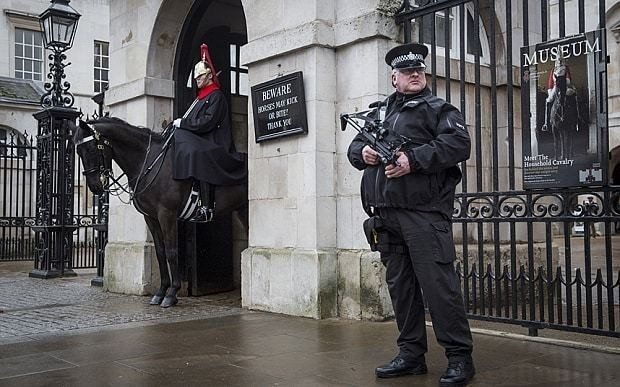 Terror threat to UK police increased