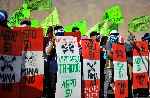 Protest begins against billion-dollar Southern Copper mining project in Peru