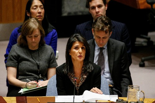 U.S. vetoes U.N. call for withdrawal of Trump Jerusalem decision