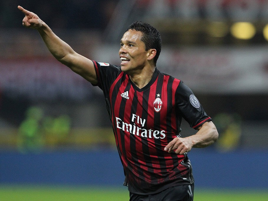 One of the best Milan's striker, Carlos Bacca. This Colombian scored many important goals since he moved from Sevilla few years ago.
