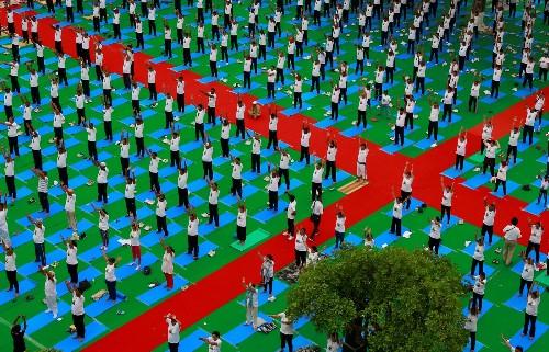 Namaste on International Yoga Day: Pictures