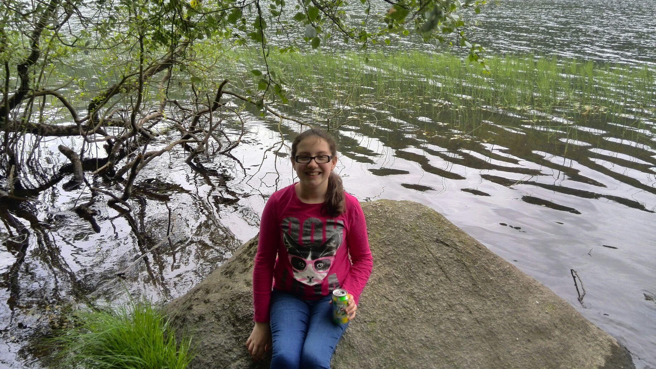 Mia at the lake in glendalough