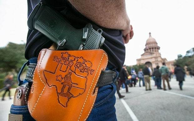 Texas marks New Year with law allowing one million people to openly carry handguns