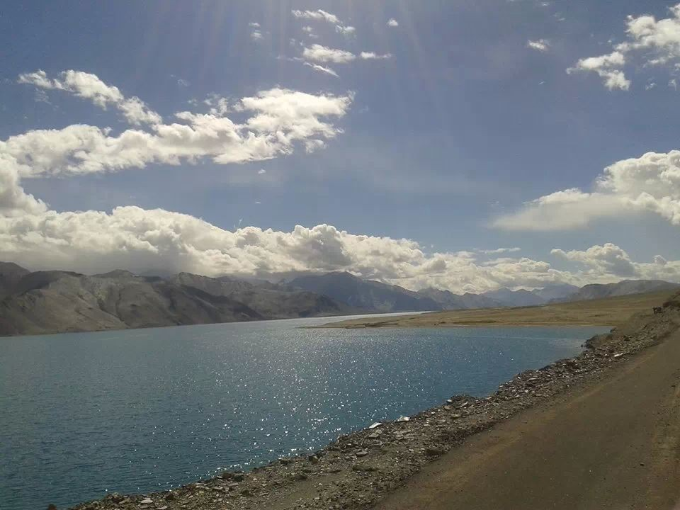 #SunRays & #Pangong #LakeWater = #6 different color of #water #Believe it or #Not