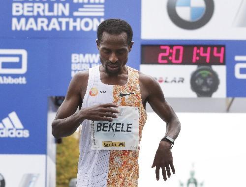 Bekele wins Berlin Marathon, misses WR by just 2 seconds