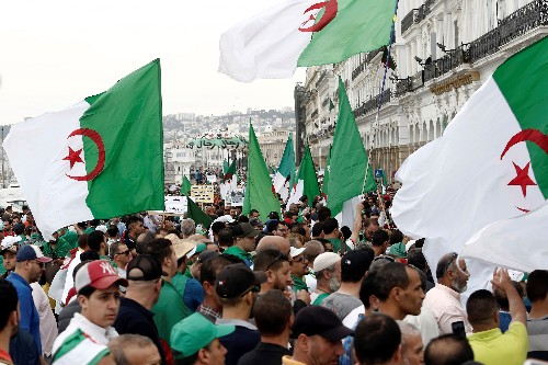 Thousands of Algerian protesters demand reforms, presidential vote delay