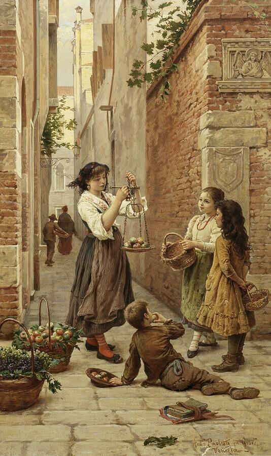 मेरी कोशिश तो यही है की ये मासूम रहे , और दिल है कि समझदार हुआ जाता है ... ...विकास शर्मा 'राज़' 'Innocent fruit Seller', 1899 Painting by Antonio Ermolao Paoletti, Italian, 1835 - 1912