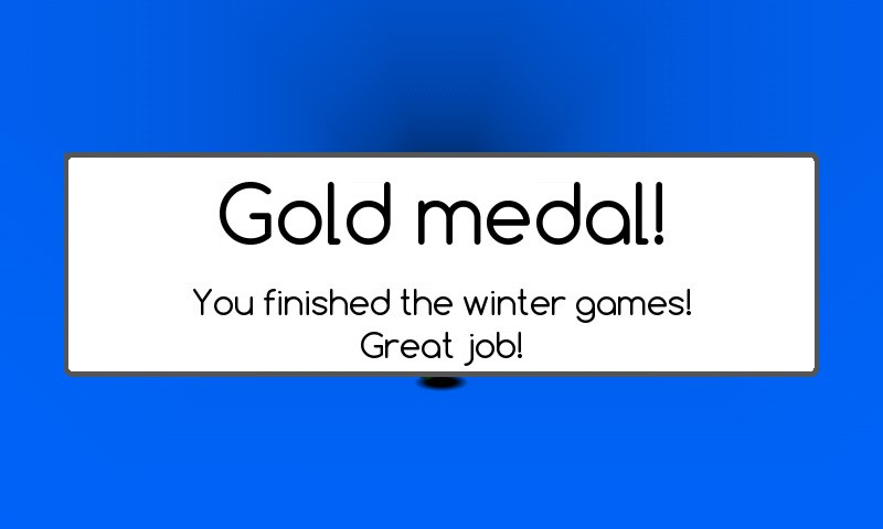 Gold medal, RUN, winter game... #DNRgame