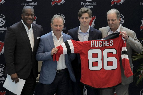 Devils introduce Jack Hughes to New Jersey after big week
