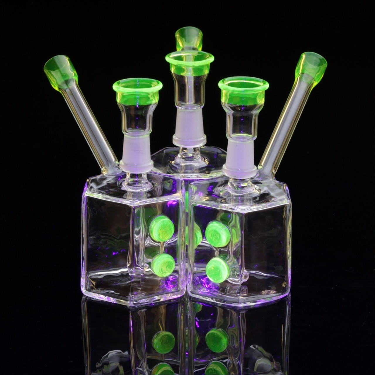 #illuminatti hex rigs from this week. this color is UV reactive and glows in the dark.