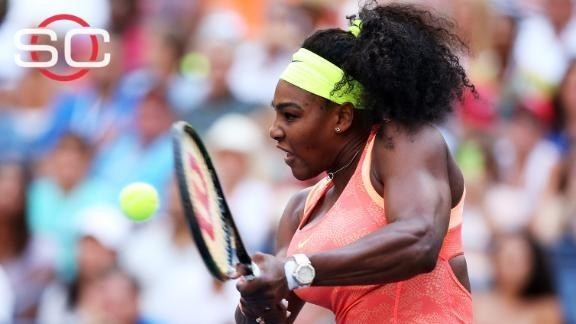 Momentum carries Serena past another Open test