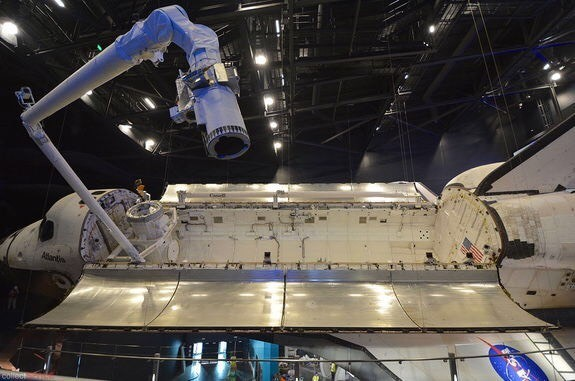 This is the Canadian arm a giant robot arm that they send into space