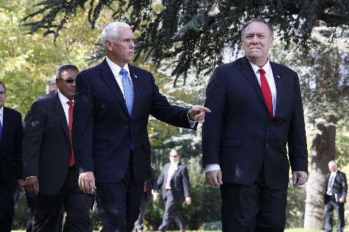 The Latest: Pence, Pompeo arrive in Turkey to meet Erdogan