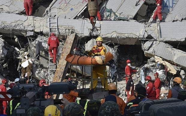 Two survivors rescued from rubble of Taiwan quake after 50 hours