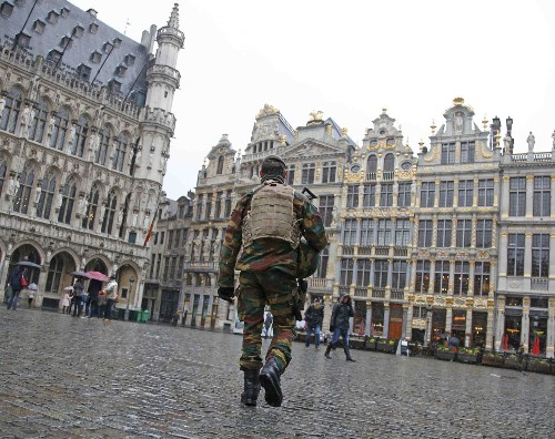 Brussels on High Security Alert: Pictures