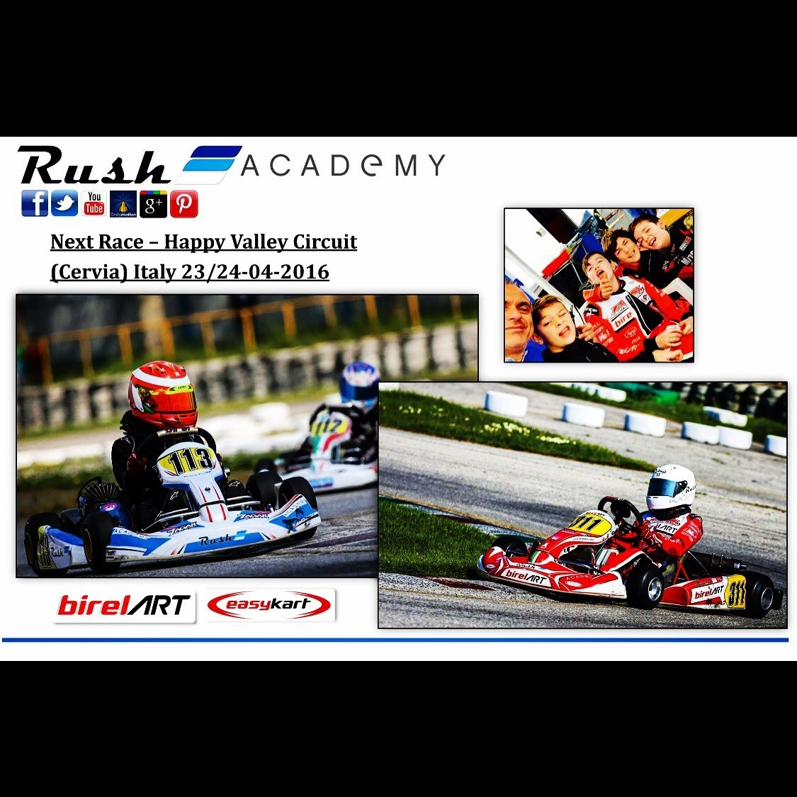 NEXT RACE - HAPPY VALLEY CIRCUIT (CERVIA) ITALY - 23/24-04-2016