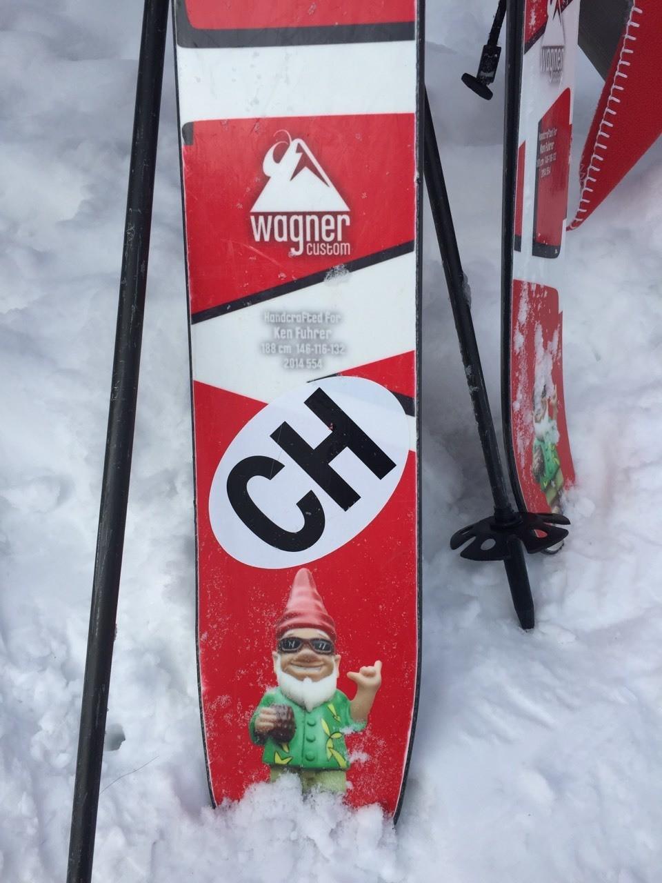Gotta love custom skis: DIY graphics
