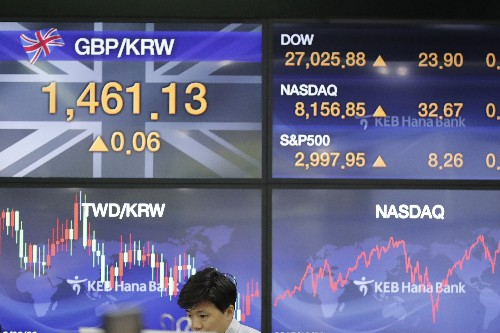 Solid earnings, Britain-Europe deal push US stocks higher