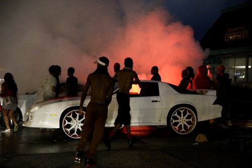 Violence Erupts at Ferguson Anniversary Protest