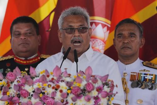 Gotabaya Rajapaksa sworn in as Sri Lanka's new president