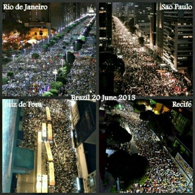 Brazilian protests.