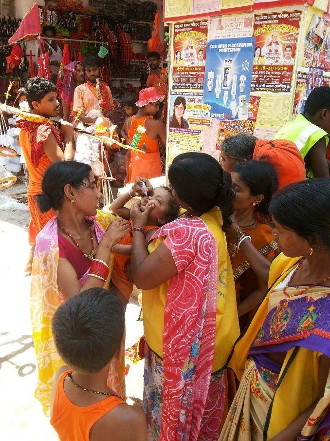 Shrawani mela and polio drops...