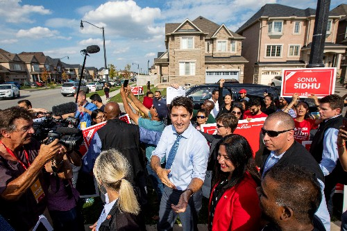 Canada's Trudeau pushes on with campaign after severe blow from blackface photos