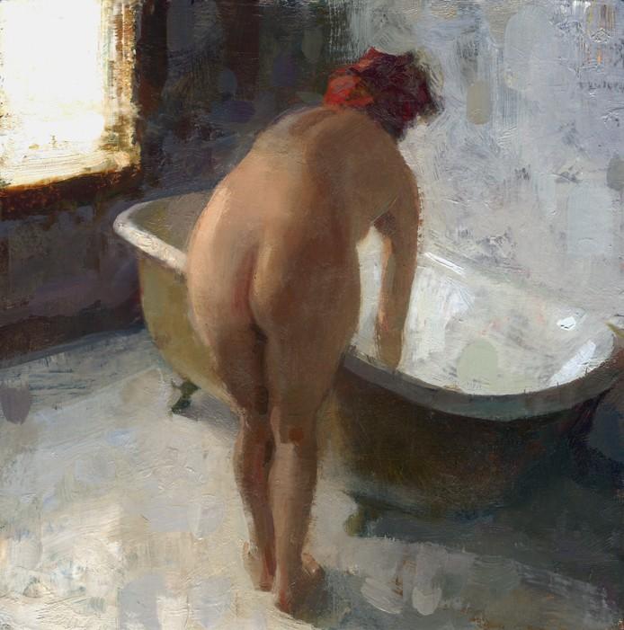 Jon Redmond - nude red towel