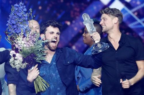 Netherlands wins Eurovision contest; Madonna flag display causes stir