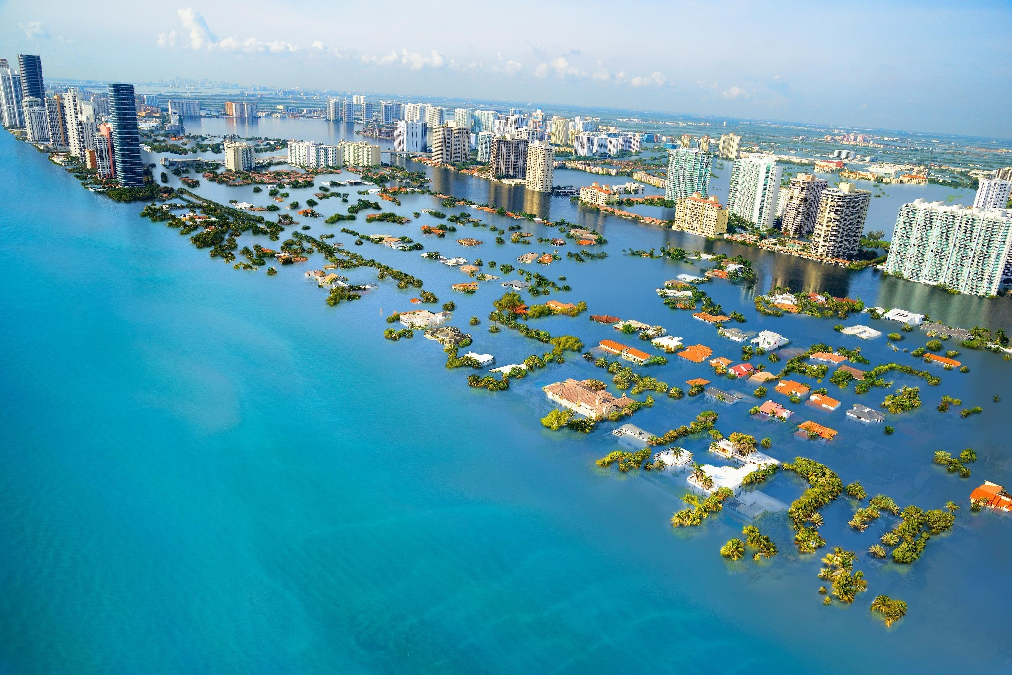 From Miami to Shanghai: 3C of warming will leave world cities below sea level