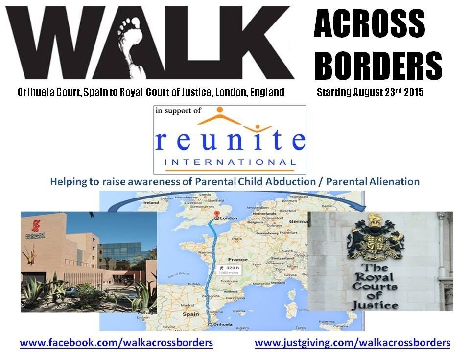 """187 likes on my Walk Across Borders page. That's pretty amazing guys but it needs much more.. Please keep sharing and help me to raise awareness of parental child abduction and parental alienation. In 2014, the reunite international child abduction centre UK charity reported 17,000 calls through their advice line. Yes... 17,000 ! When you consider the size of the country, the size of the charity itself, I'm sure you can understand that this is just a tip of the iceberg as their main focus is international child abduction and retention issues.. Many other parents and children are alienated from each other without abduction.. Children are being emotionally abused by people that they should be able to trust the most... They go under the name of """"parent"""" I am going to complete this challenge and want as much publicity as possible for doing so.. Not for me but for all parents, families and children who are so cruelly being kept apart by a broken system or alienated in the most heinous way.. As well as this... I want to make my own daughter even a fraction as proud of me as I am of her... Not one day goes by without her being in my mind and in my heart.. One more day closer xxxx www.facebook.com/walkacrossborders"""