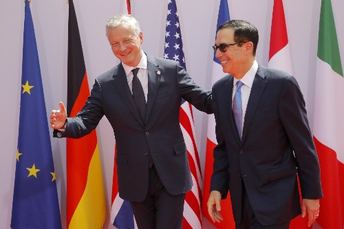 US to object to French tax on tech firms at G-7 meeting