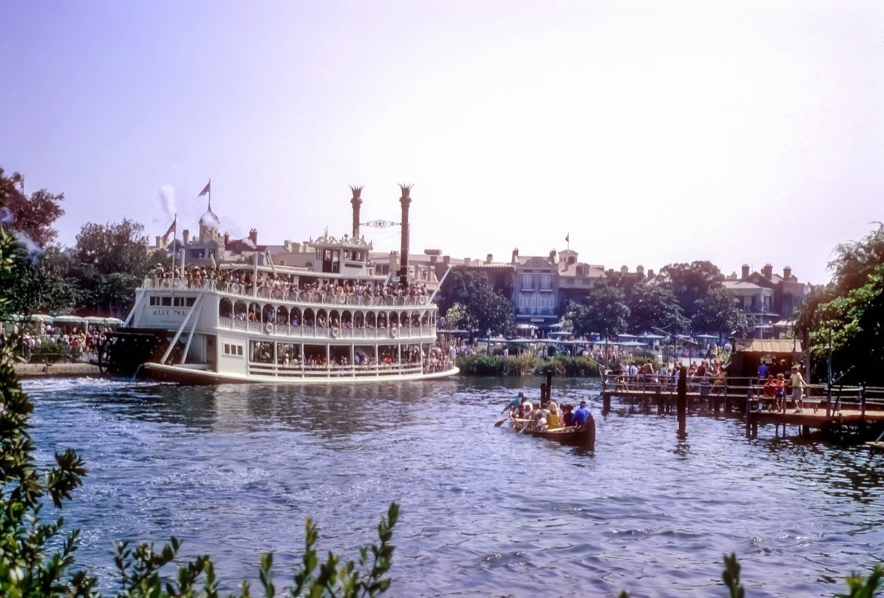 Daily Vintage Disneyland: Frontierland 1967 with the Mark Twain #disney #disneyland #frontierland #marktwain