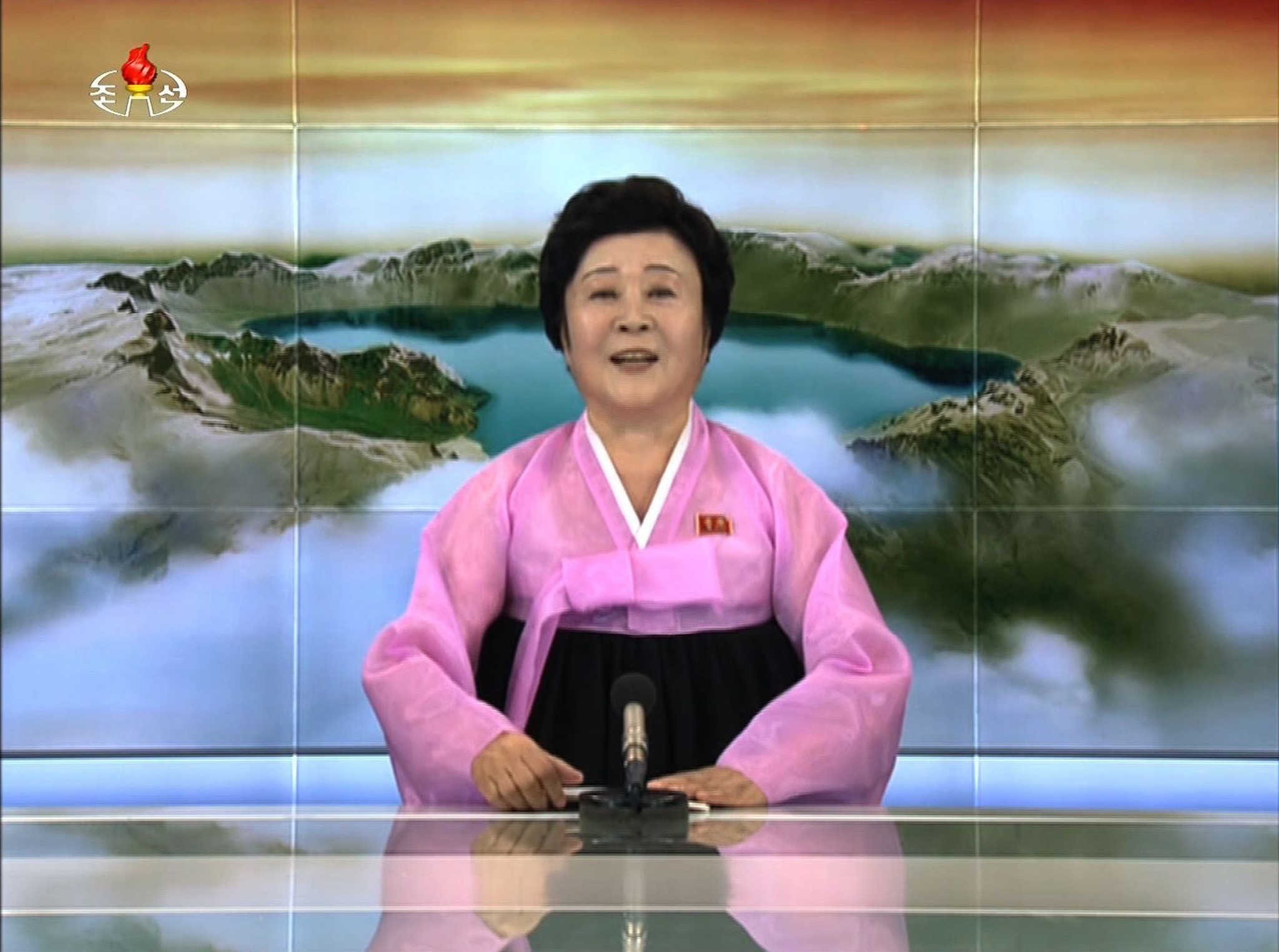 Count on North Korea's 'pink lady' broadcaster for joyful news of bombs and missiles