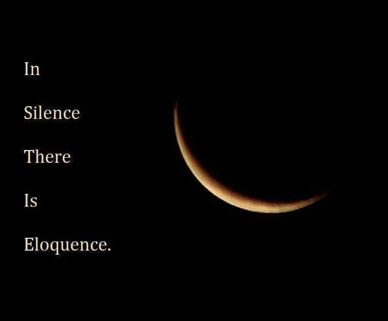 Better to maintain silence ....