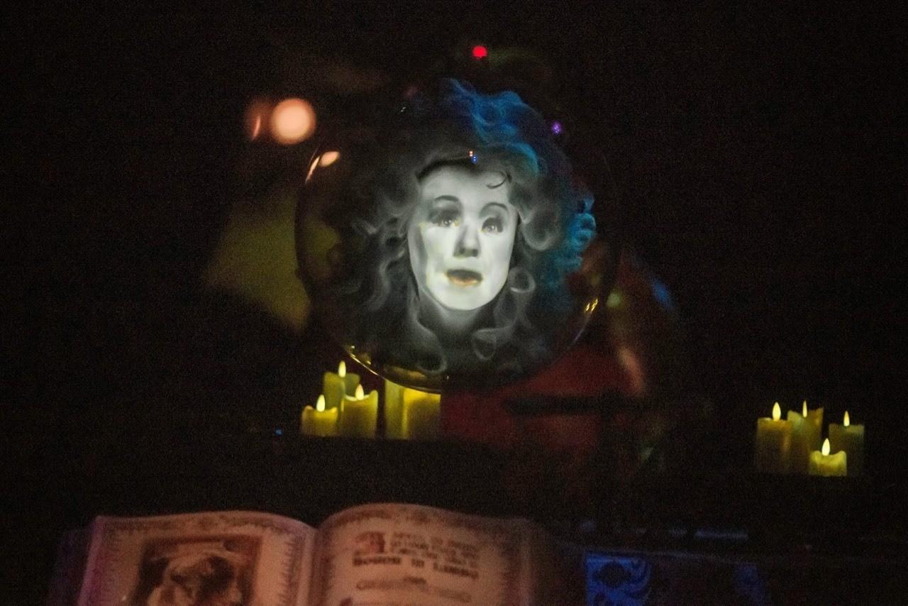 Daily Disneyland: Madame Leota and her spell book in Disneyland's Haunted Mansion #disney #disneyland #hauntedmansion