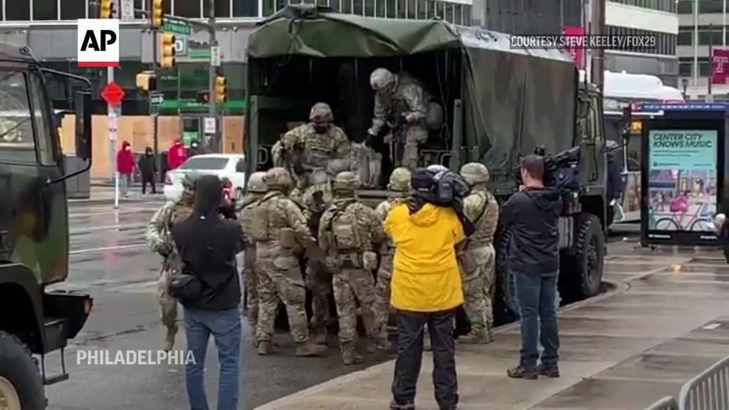 National Guard troops arrive in Philadelphia