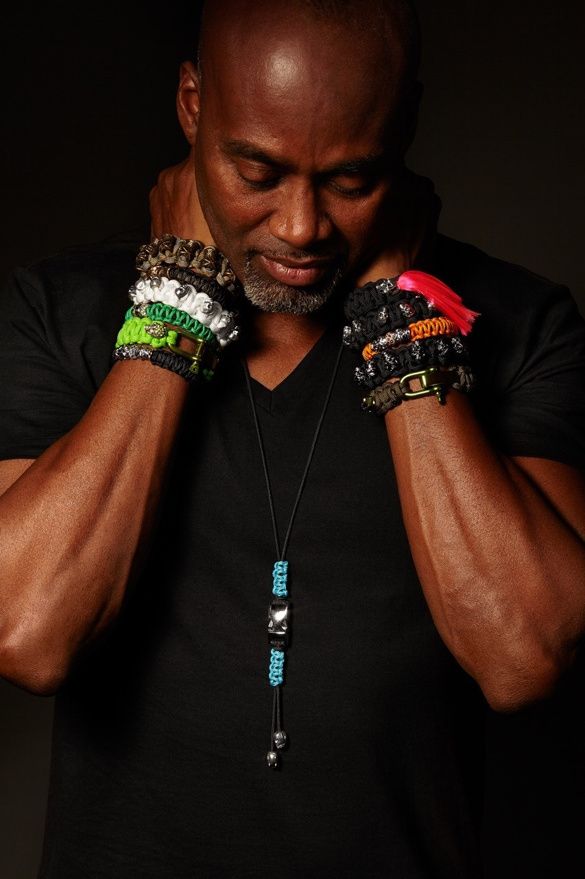 44 year old veteran making bracelets to earn a living and as a form of therapy.