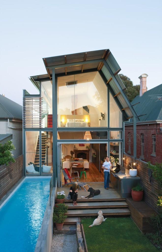 Articles about luminous australian renovation packs lot 23 foot wide lot on Dwell.com - Dwell