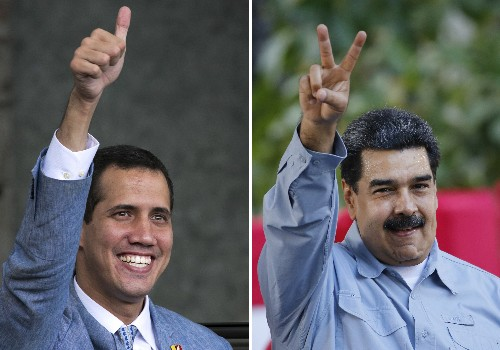 Venezuela opposition leader Guaido appears at aid concert