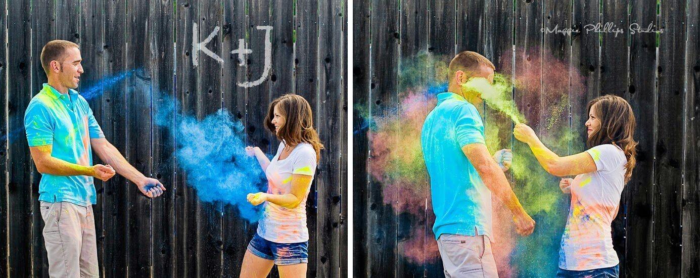 Fun, colorful engagement portrait session. #unique #Houston #bride #wedding #photography