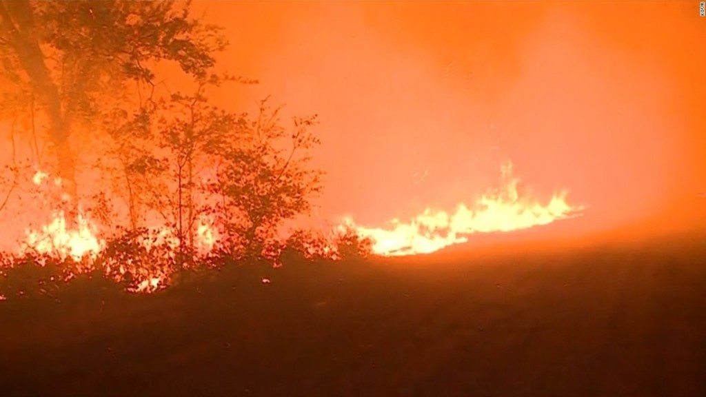 At least 11 dead as fires rage in Northern California